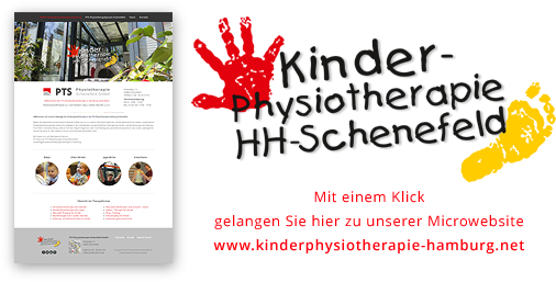 Button: Webscreenshot und Hinweis zur Mircrowebsite www.kinderphysiotherapie-hamburg.net
