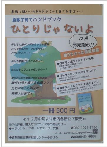 ハンドブック発売告知ポスター。 リーフレットと共に市内各所に配置してもらいました。