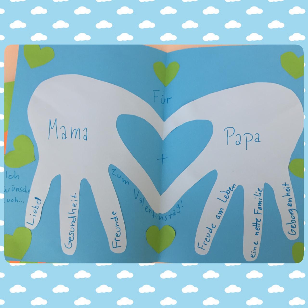 Valentinstag mama und papa