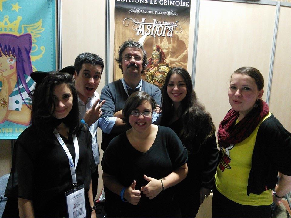 L'équipe du blog de GG avec laquelle nous partagions le stand