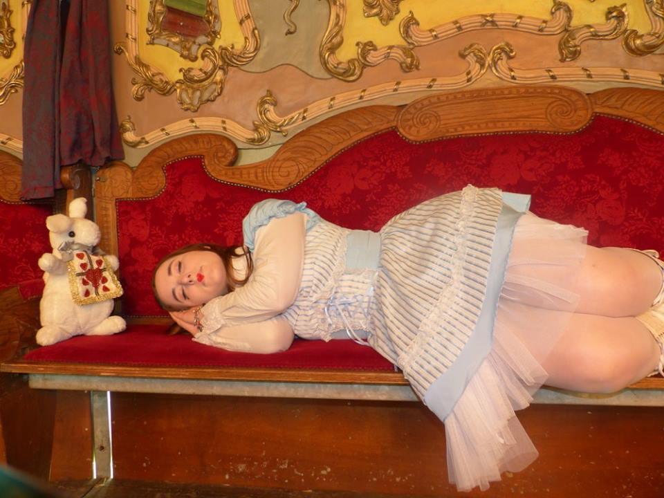 Un jour qu'Alice s'était endormie, elle partit dans ses songes au pays de l'imaginaire en Épinal, les Imaginales à la recherche d'un livre magique.