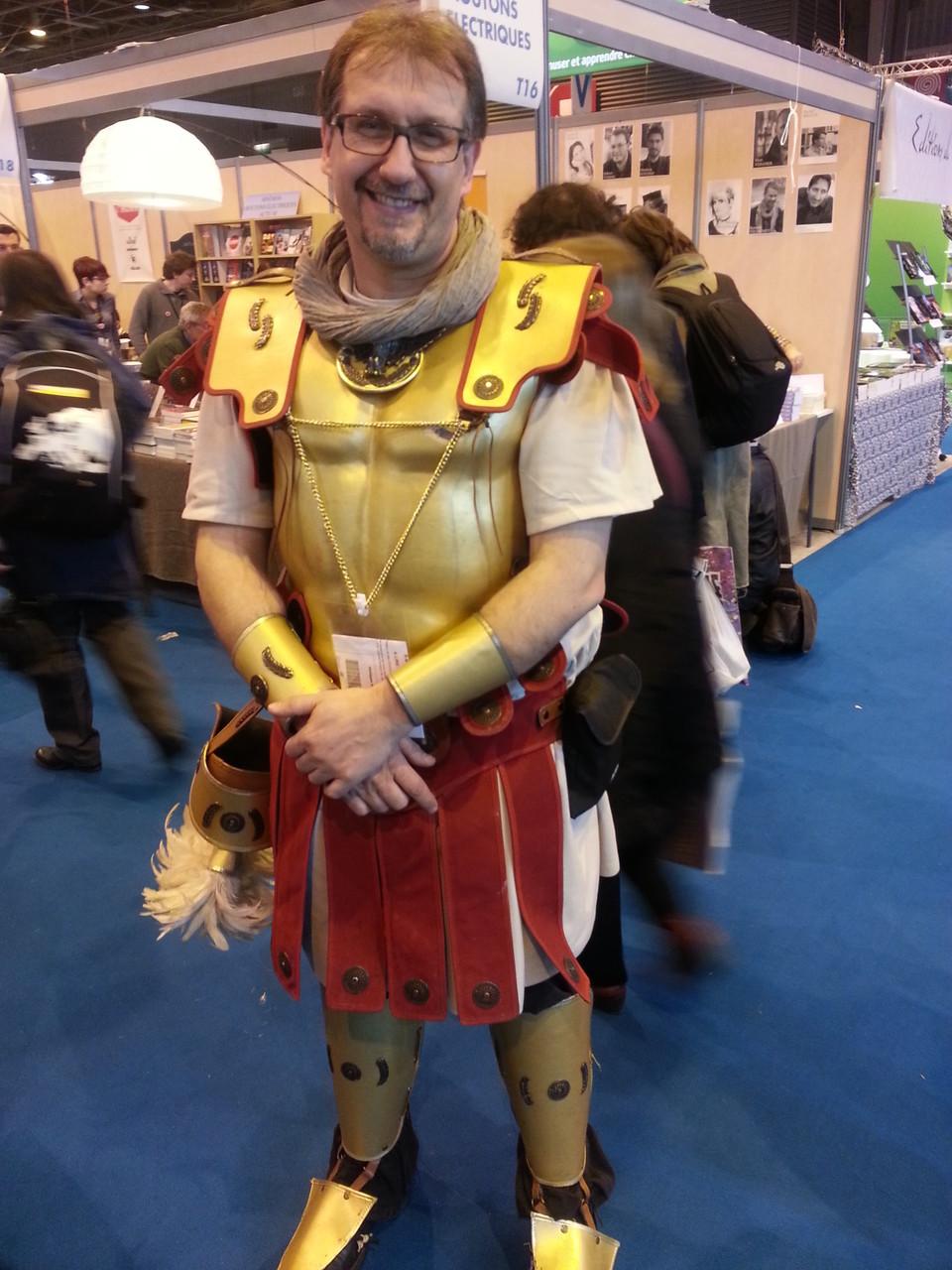 Le centurion Philippe Aurèle au Salon du Livre de Paris 2015