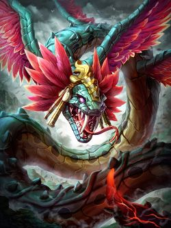 Smite Kukulkan by Brolo Digital Art / Drawings & Paintings / Fantasy ©2014-2018 Brolo