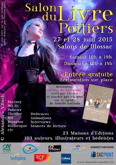 Affiche du Salon du Livre de Poitiers 2015