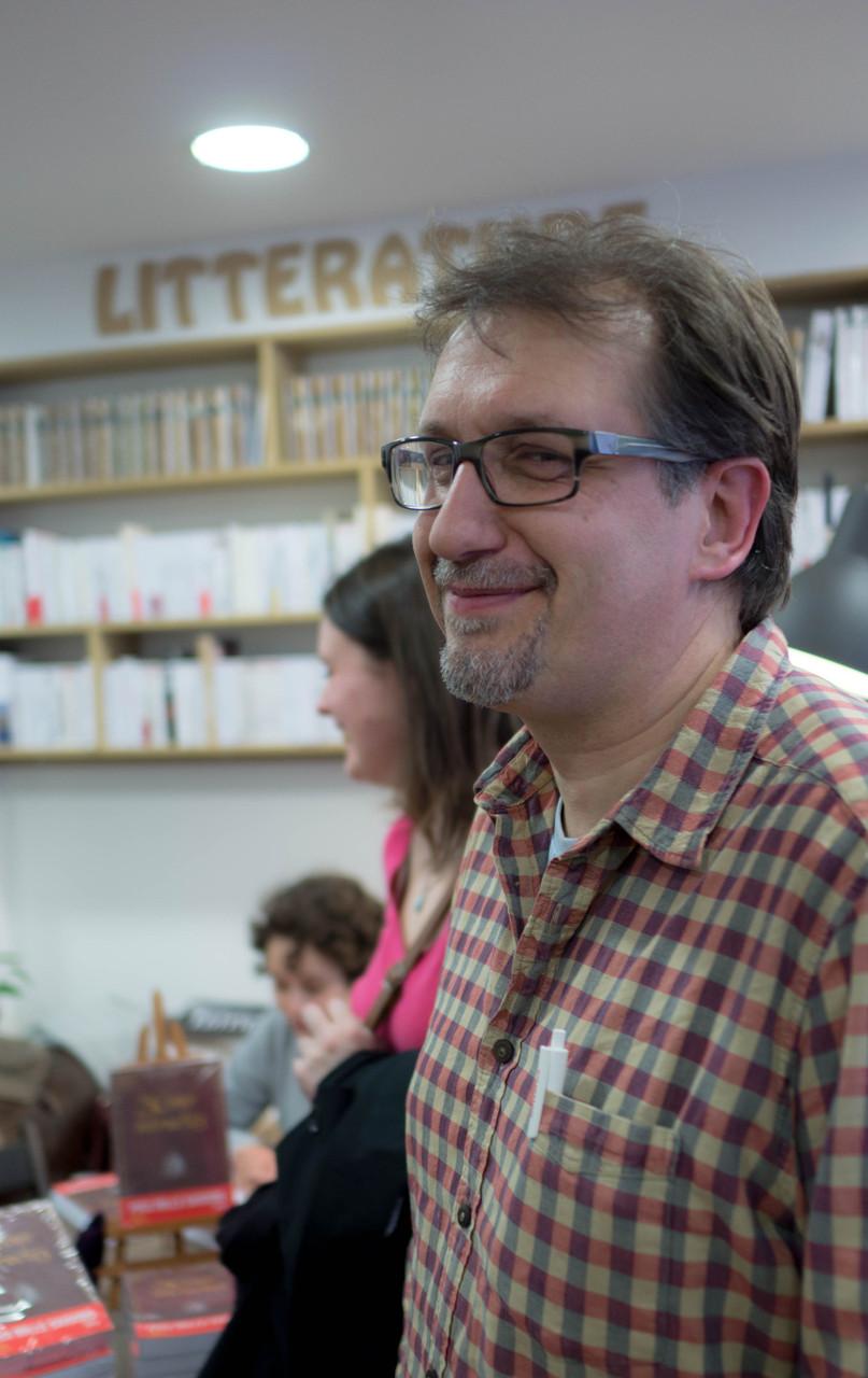 Moâ à la librairie Le Livre et la Tortue, le 9/04/2015.