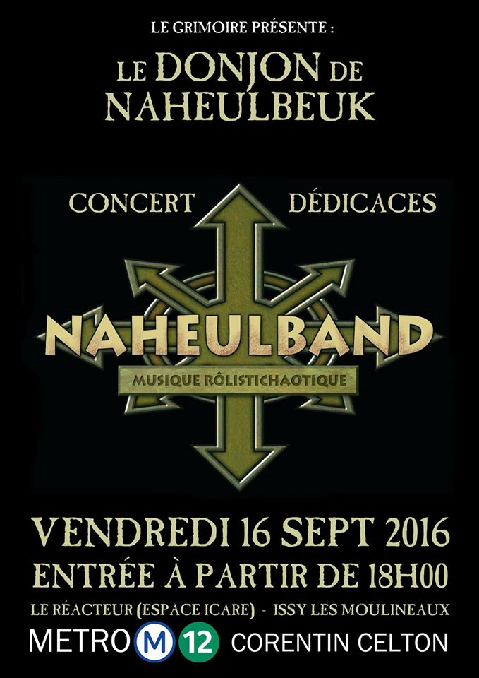 Le Naheulband en concert le 16/09/16 à l'Espace Icare - Issy les Mlx