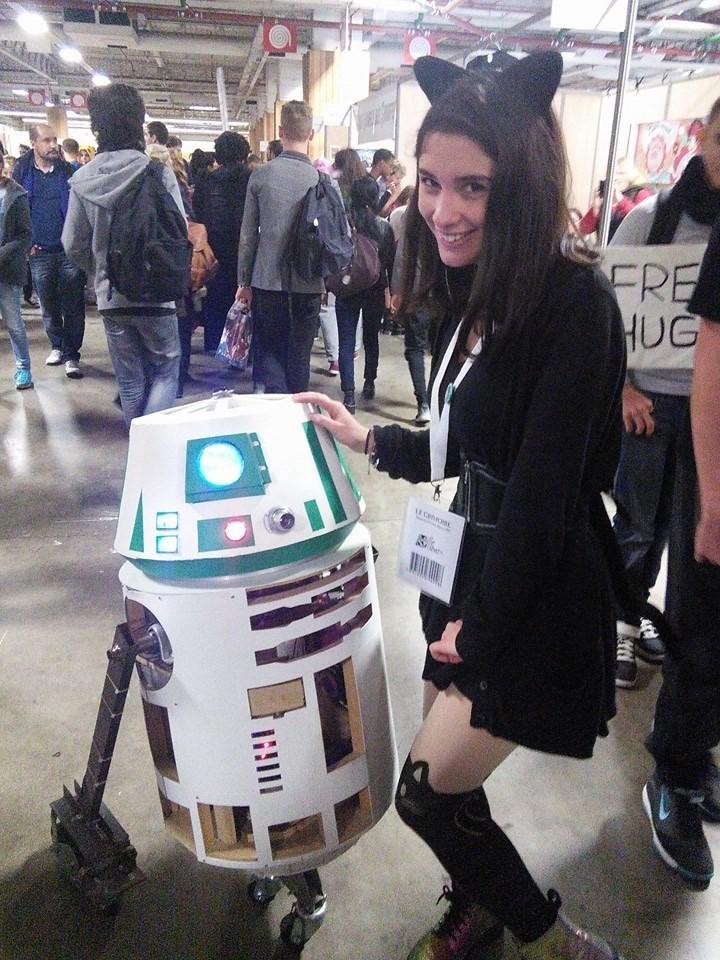 Tiphaine avec un R2