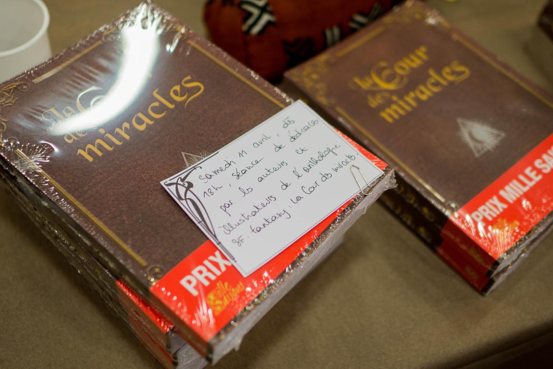 """L'espace dédicace dédié de la librairie """"Le Livre et la Tortue"""" sur l'esplanade du Fort d'Issy"""
