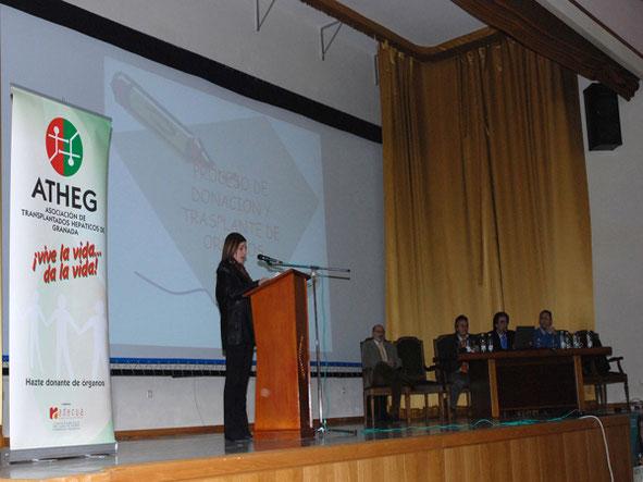 Conferencia en la Academia de la Guardia Civil de Baeza, como grandes colaboradores en el proceso de la donación. 1 Febrero 2008.
