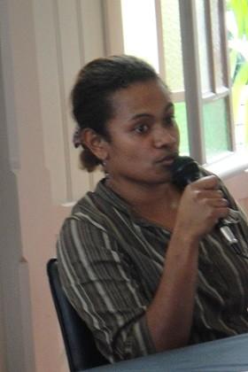 Simeï Paala, responsable de la médiathèque du Nord (16/04/2011)