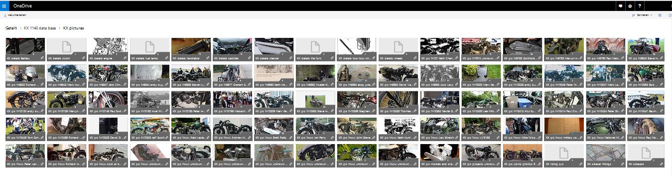The archive is sorted by frame number and holds detailed pictures on each individual bike
