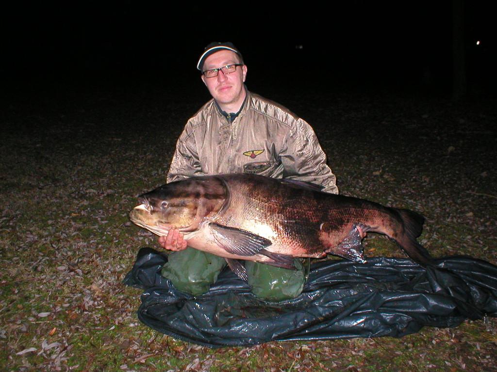 Marmorkarpfen 37,5 kg gefangen im Bahnweiher am 29.11.2009