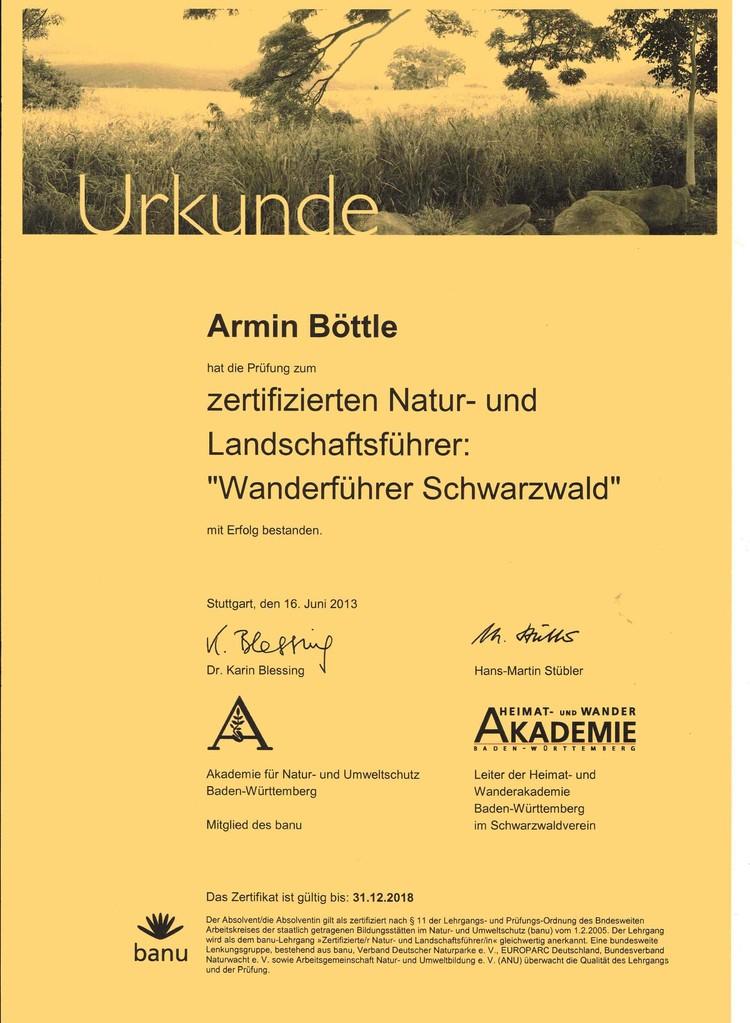zerti. Natur- und Lanschaftsführer Armin
