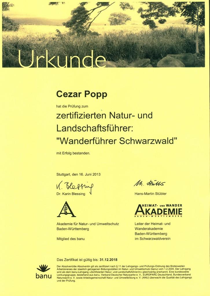 zerti. Natur- und Lanschaftsführer Cezar