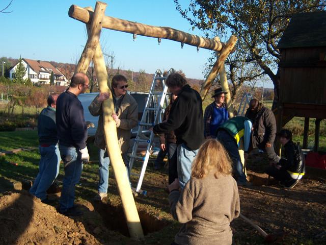 Aufbau Schaukel Agenda Garten