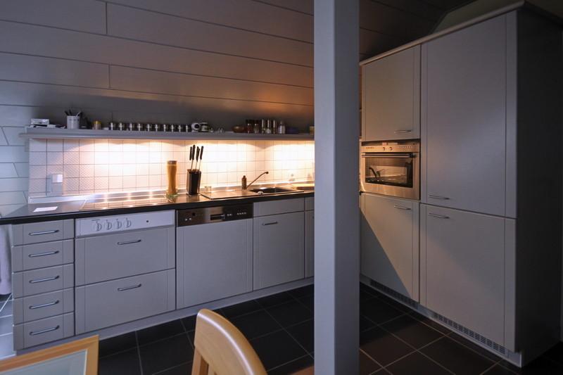 Die hellgraue Küche mit Siemens Geräten · yak © 2012 RK
