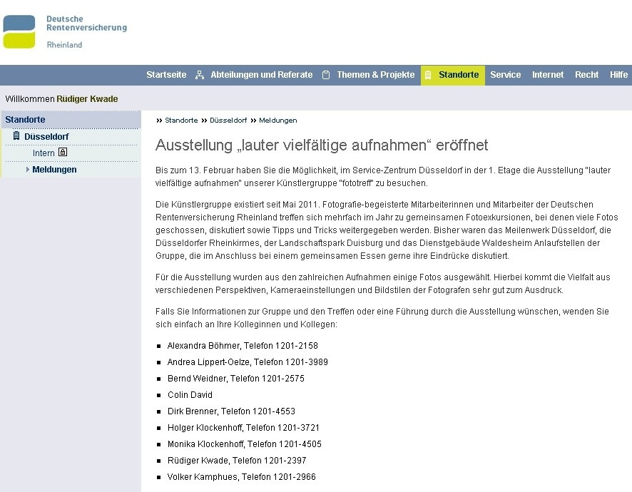 intranetmeldung vom 15.12.2011