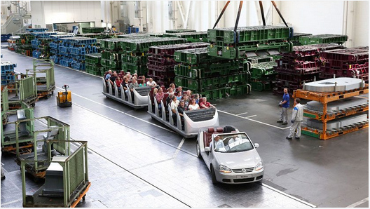 Mit der Golf-Bahn durch die Fahrzeugproduktion