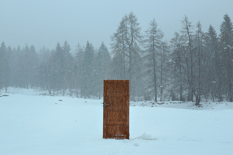Gate in the snow