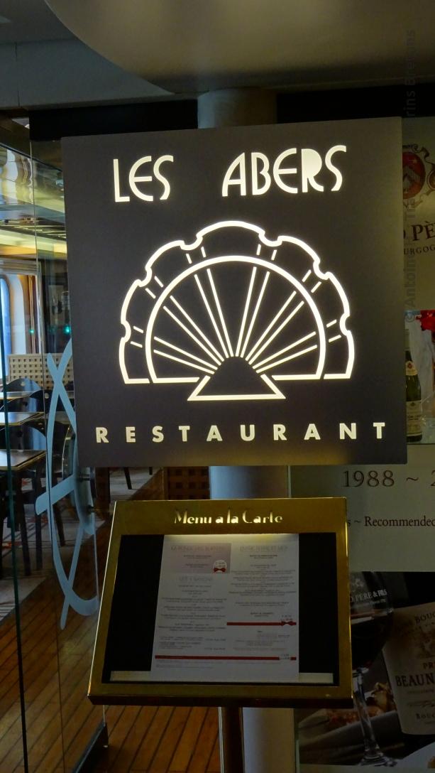 Écriteau d'entrée du restaurant Les Abers