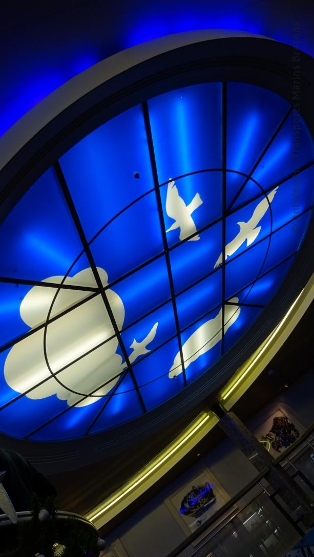 Verrière au plafond du pont 7