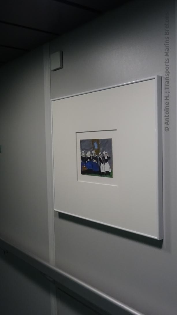 Peinture dans un couloir de Bretagne