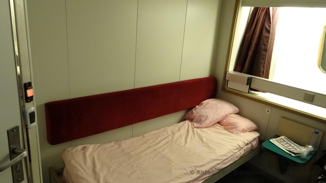 Cabine deux couchettes (photo prise avant notre débarquement)