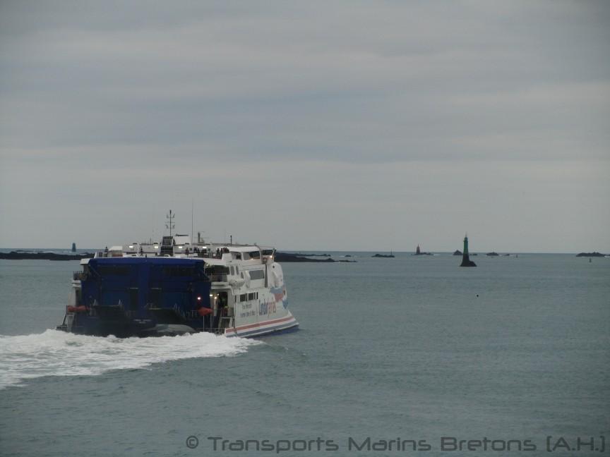 Le HSC Condor Express se dirigeant vers Jersey. Photo : Antoine