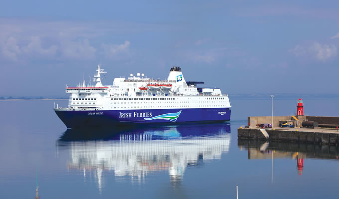 M/V Oscar Wilde arrivant à Rosslare, photo : Irish Ferries