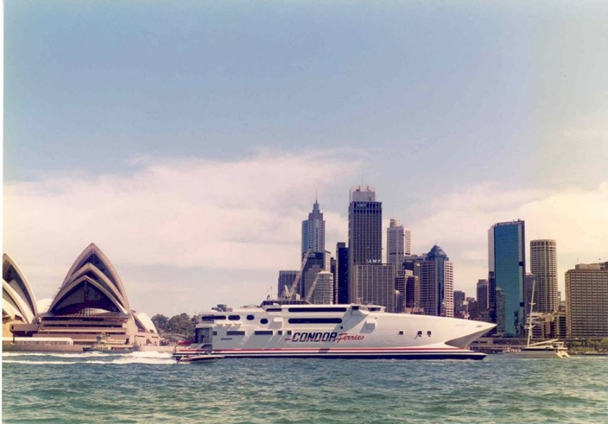 HSC Condor Vitesse à Sidney, photo : Condor Ferries