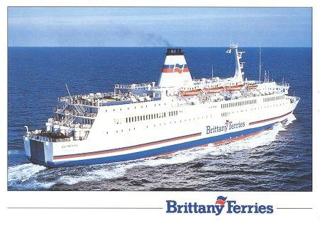 Carte postale officielle du M/V Quiberon de Brittany Ferries.
