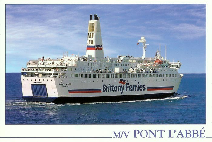 Carte postale du M/V PontLAbbé, scan : www.simplonpc.co.uk