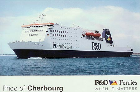 Carte postale du M/V Pride of Cherbourg (3), collection www.simplonpc.co.uk