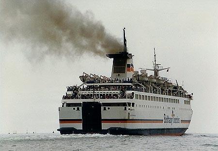 M/V Duc de Normandie au départ de Portsmouth, © BOYLE, Ian