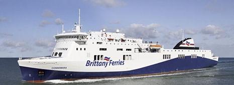M/V Connemara, le navire de la classe-Vissentini qui sera affrété pour renforce les lignes de la mer d'Irlande de Brittany Ferries
