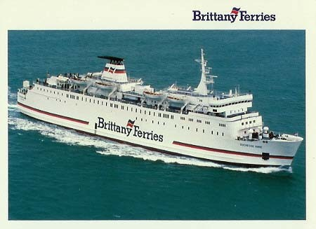 Carte postale officielle du M/V Duchesse Anne exploité entre 1989 et 1996 par Brittany Ferries.