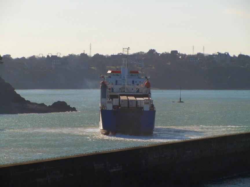 M/V Commodore Goodwill arrivant à St-Malo, © O530C2N.