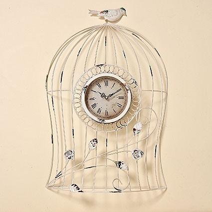 grosse wand uhr shabby birds wohnen dekoration. Black Bedroom Furniture Sets. Home Design Ideas
