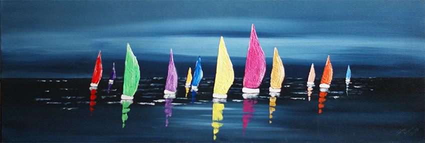 Segelschiffe in Acryl