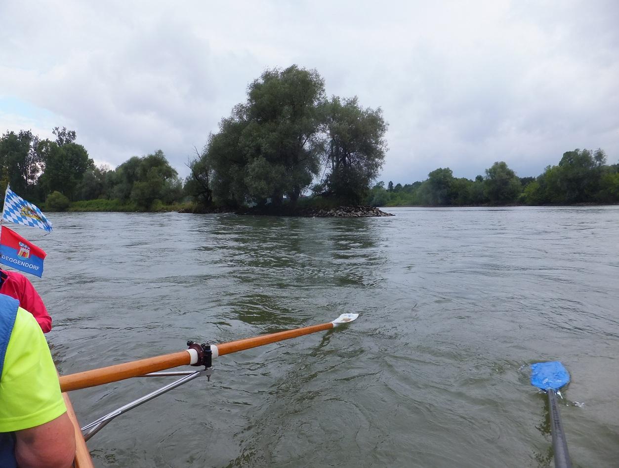Mündung der Isar in die Donau