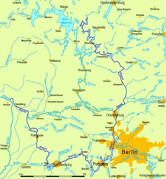 Karte Havel