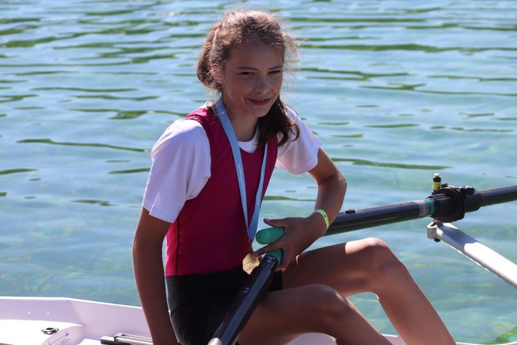 Nummer 3 in Deutschland, A. Herpich im Mädchen Einer Leichtgewicht 13 Jahre bei der Deutschen Schülermeisterschaft in München