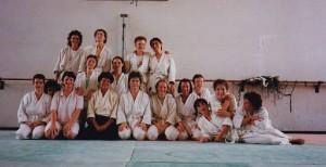 1991 in Seyssel mit Geraldine Tremblay