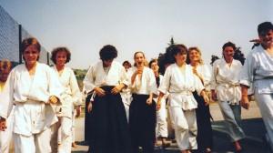 1989 mit Regula Pfeiffer in Les Fleuries