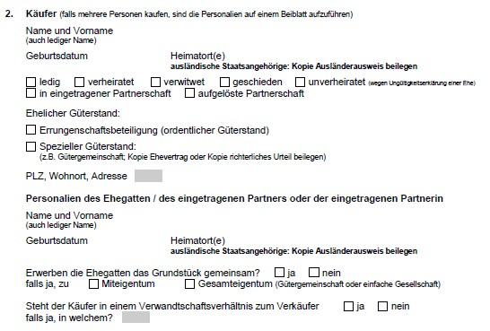 Quelle Grundbuchamt Solothurn Anmeldeformular Immobilien Verkauf Kanton Solothurn