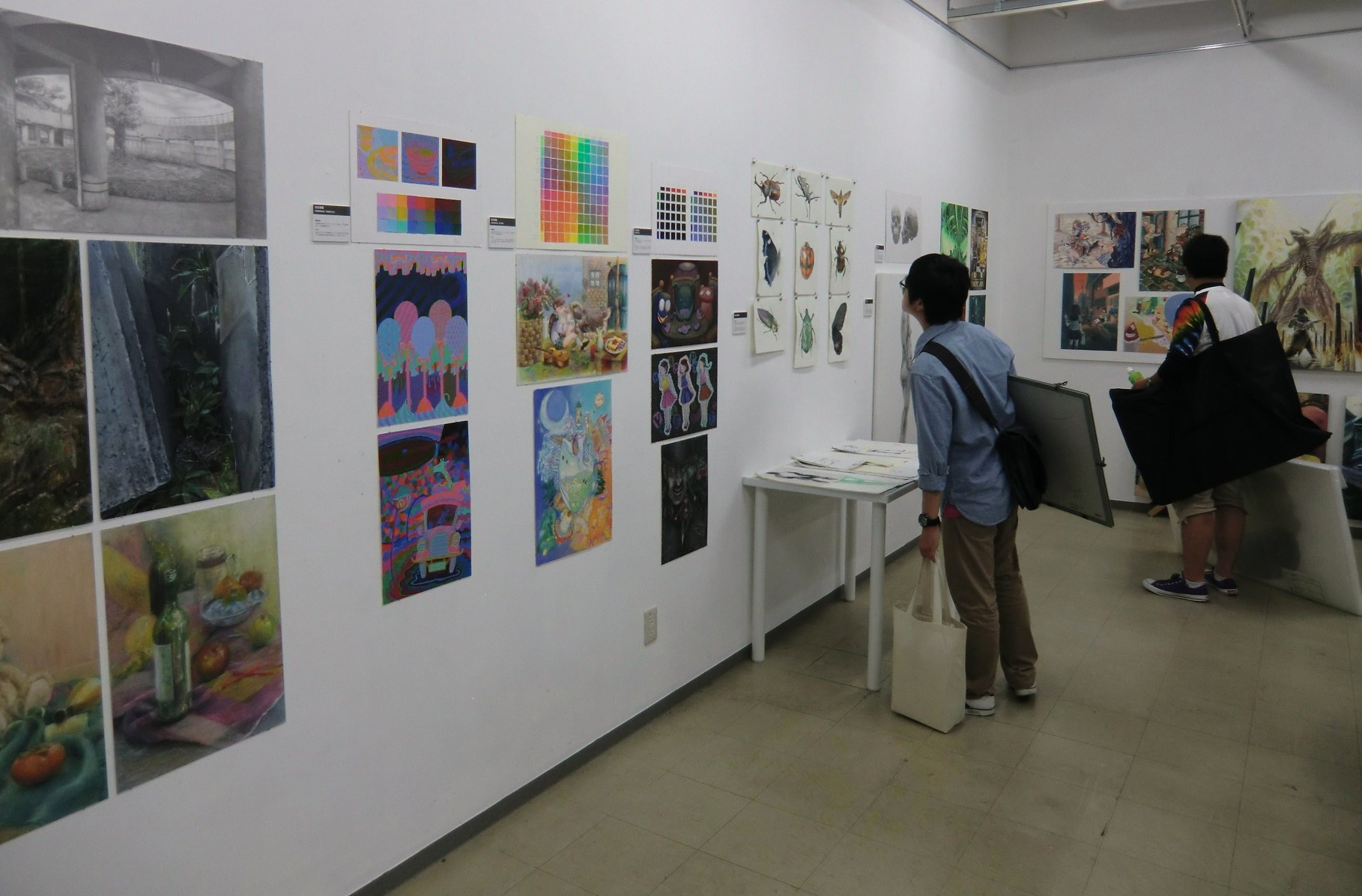 成安造形大学(滋賀県)のイラストレーション領域の授業内容の紹介