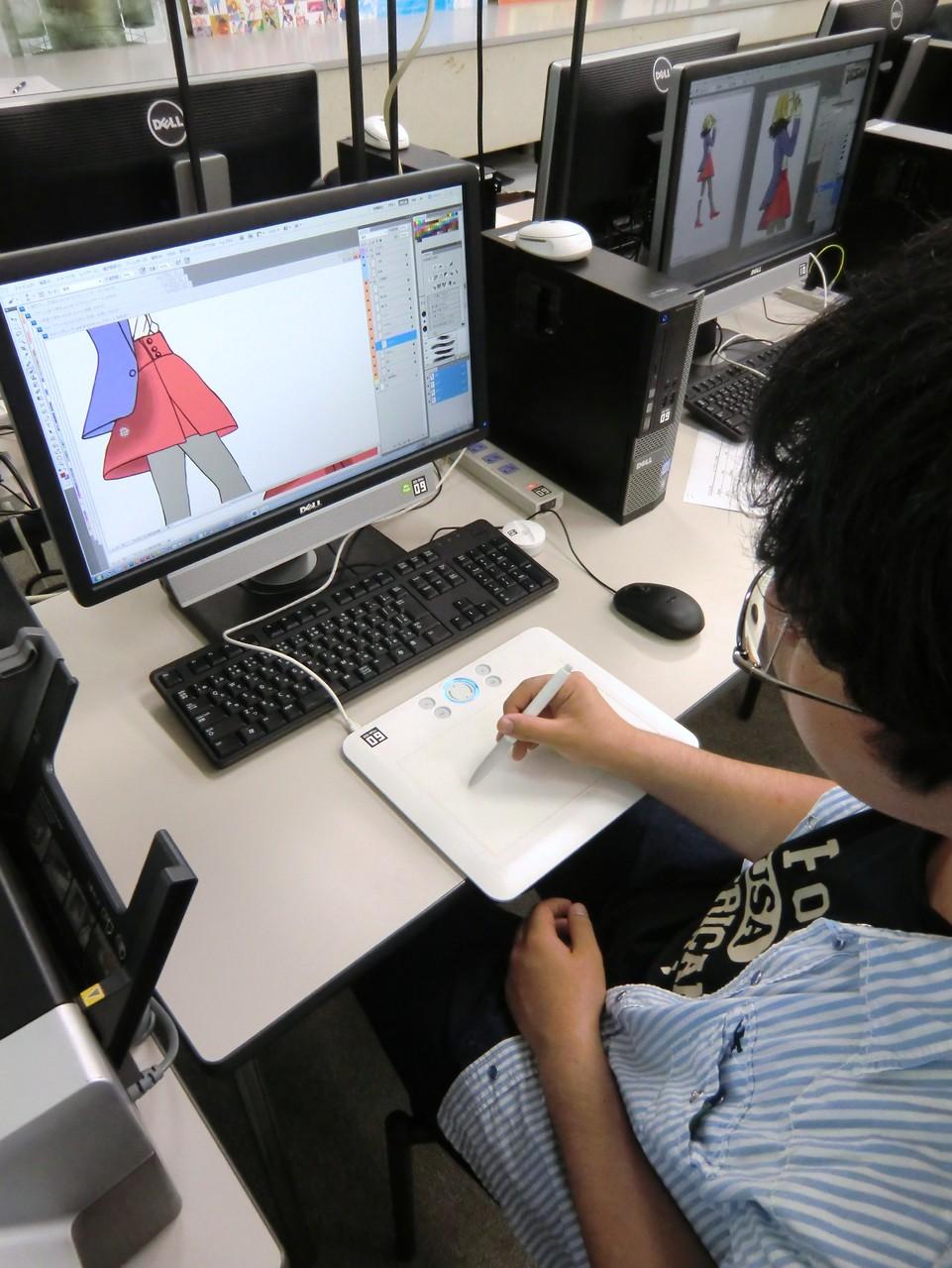 成安造形大学(滋賀県)でCGを体験!「やってみると何だか面白いっチャ!」