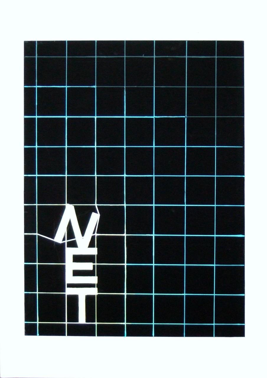 生徒作品98  アクリルガッシュ<平面構成:NET> B3判 KMKケント紙 【デザイン系】
