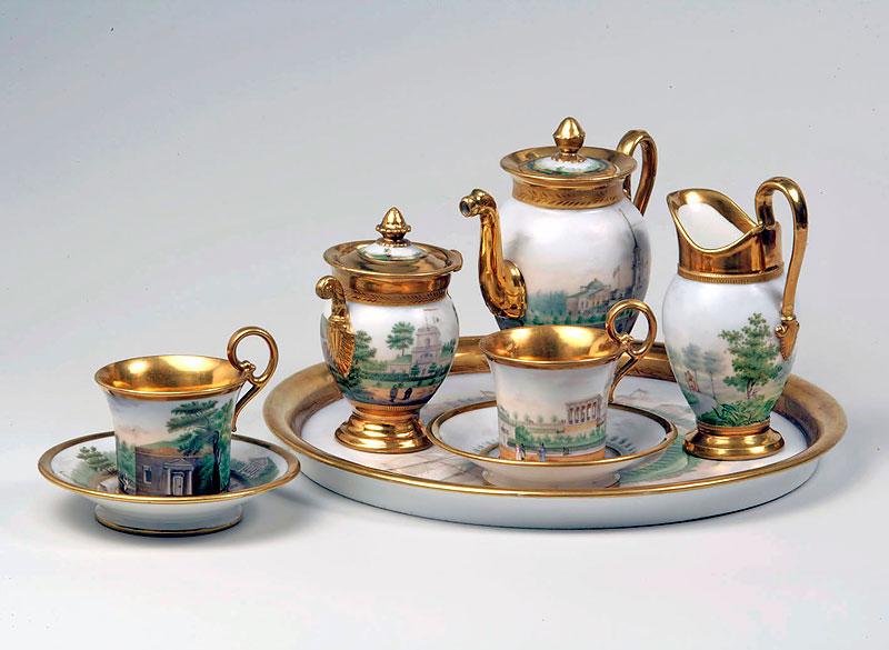 Сервиз «Аракчеевский» чайный на две персоны. 1823 г. Музей-усадьба «Архангельское»