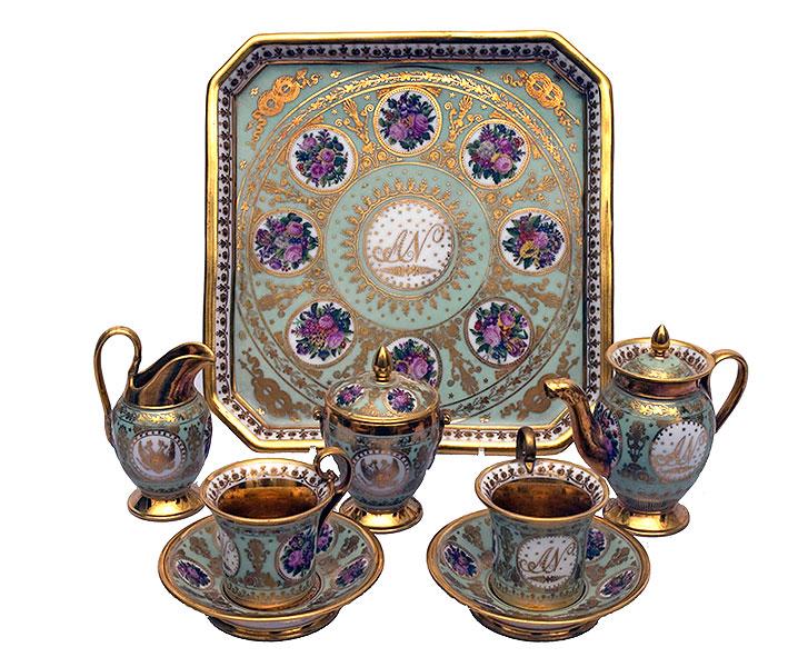 Сервиз тет-а-тет детский великого князя Александра Николаевича. 1824 Г.